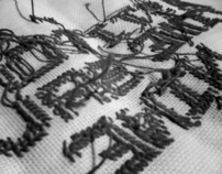 A Stitch in Time Promotional Piece (9x9 Typeface)