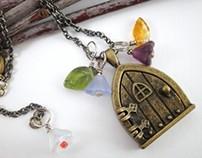 Fairy Door Locket Pendant Necklace