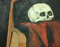 Viola, Skull and Drapery