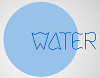 water - typeface design
