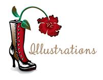 Vector, raster & traditional media illustrations