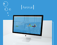 Aaron.ai website design
