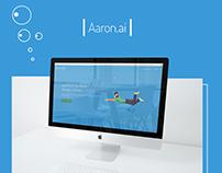 Aaron.ai website design
