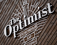 "Logo for a positive bar and restaurant ""The Optimist"""