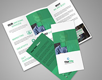 clean tri-fold brochure psd template