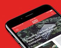 MakeUseOf Mobile App UI/UX Design