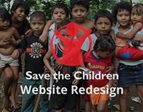 Save the Children Website Redesign