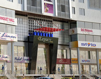 Commercial building exterior at Faisalabad