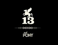 PONY 13 shoes  logo
