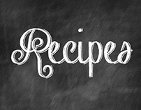 Chalkboard Recipe Card