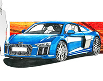 1ST YEAR PROJECT: R8 AUDI RENDERING