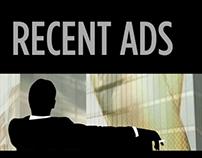 Advertisements; recent work