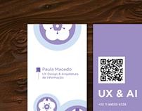 Paula Macedo - Cartão de visitas