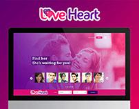 LoveHeart- Social Website design Concept