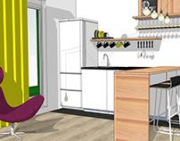 Дизайн кухни / Квартира в Красногорске