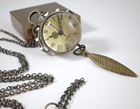 How Time Flies Steampunk Antiqued Brass Watch Necklace