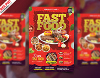 Restaurant Business Promotional Flyer PSD