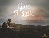 Give a little - Help a lot