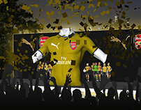 Arsenal Away Kit Launch concept