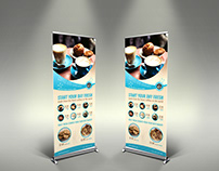Cafe Signage Roll Up Banner Vol.3