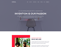 Rivvia One Page Parallax Creative Agency PSD Template