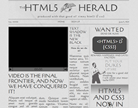 TheHTML5Herald.com  Sitepoint project