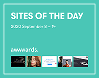 Sites of the Day AWWWARDS 2020 September 8 – 14
