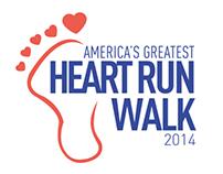 Heart Run Walk Logo Design