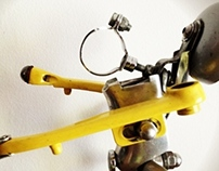Upcycled bikebot /// Name: Mr. Yellow
