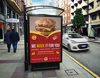 Burger Restaurant Poster Template Vol.3