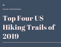 John Karwowski | Top Four US Hiking Trails of 2019
