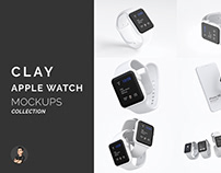 Clay Apple Watch Mockups Collection - Free Demo