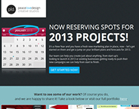 Reserve Your 2013 Project Spot - One page Landing