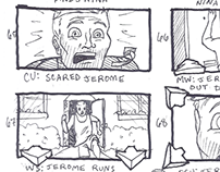 """""""Drop Dead Fred"""" Music Video - Thumbnail Storyboards"""