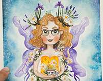 Custom Watercolor fairy portrait