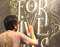 Wall Chalk Art for Toko Pasar-Pasaran