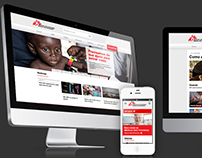 Medecins Sans Frontières - Full Responsive Website