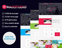 Max Studio PSD Template
