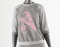 Women's sports suit (Marvelous Designer, Clo3D)