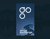 Mobile Ui // World Exchange Mobile Splash Screen