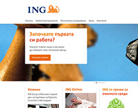 ING Bulgaria website redesign project