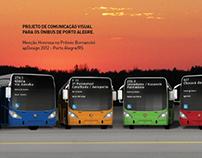 comunicação visual para os ônibus de  porto alegre