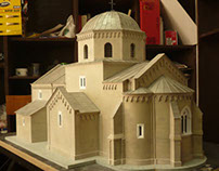 Gradac Monastery Architectural Model
