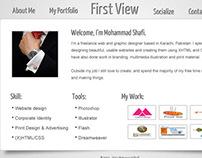 My online Portfolio layout