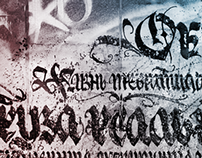 Social streetart calligraphy