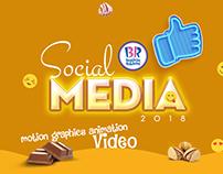 Baskin Robbins social media motion graphics animation