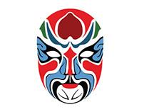 Ethnic masks (traditional mask/modern vision)