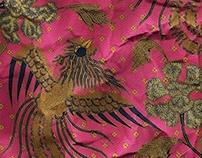 (batik pattern) x (crumpled paper)