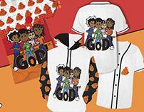 Merchandise Illustration   J1ONES God1st