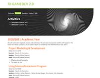2010 FII Gamedev 2.0 club website